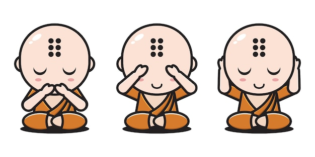 Uitdrukkingen monnik zonder spreken, niet zien, niet horen