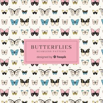 Uiterst kleine vlinderspatroon
