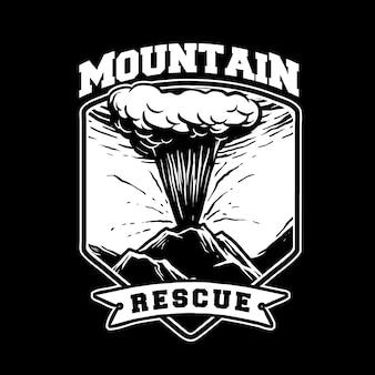 Uitgebroken redding in de bergen v