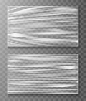Uitgerekte cellofaanbanner verfrommelt textuur