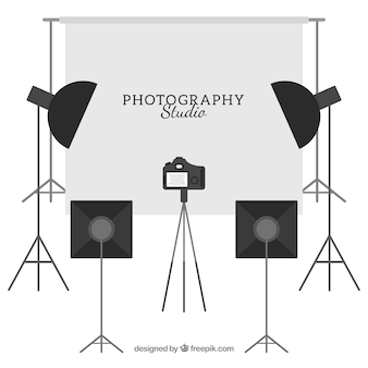 Uitgeruste fotostudio