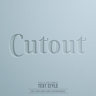 Uitgesneden papier 3d bewerkbaar teksteffect