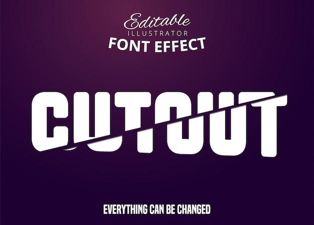 Uitgesneden tekst, bewerkbaar lettertype-effect