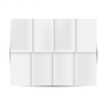 Uitgevouwen wit papier