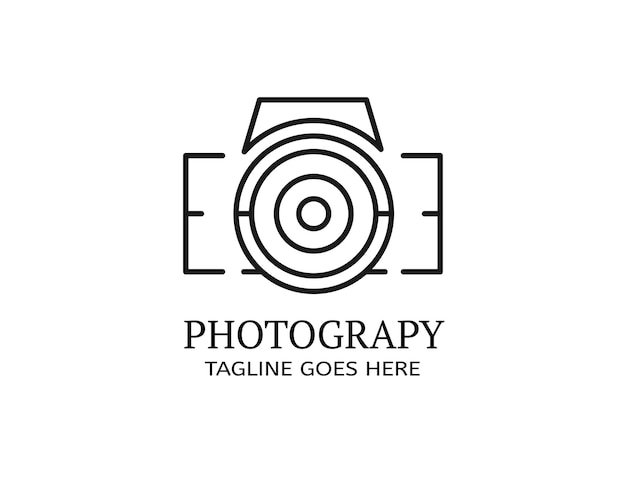 Uitlijn die een silhouet vormt in de vorm van een digitale camera voor logofotografie