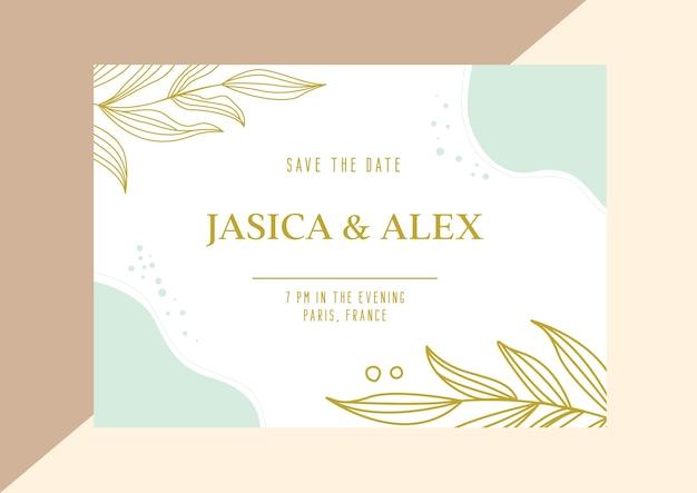 Uitnodiging achtergrond uitnodiging ontwerpsjabloon bruiloft kaart bruiloft