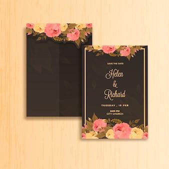 Uitnodiging bruiloft kaart.
