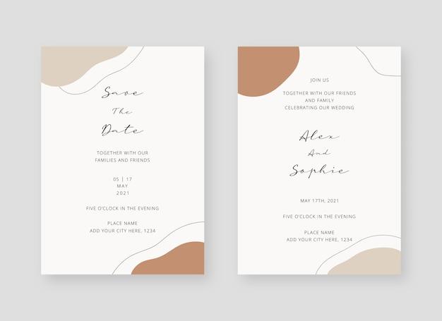 Uitnodiging kaartsjabloon set bruiloft uitnodiging kaartsjabloon