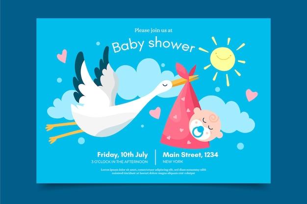 Uitnodiging sjabloon babydouche