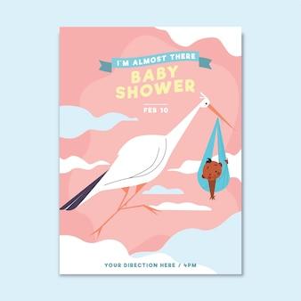 Uitnodiging sjabloon voor baby shower