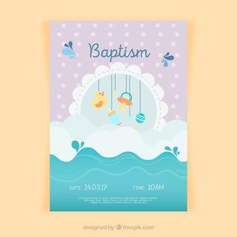 Uitnodiging van het doopsel ontwerp
