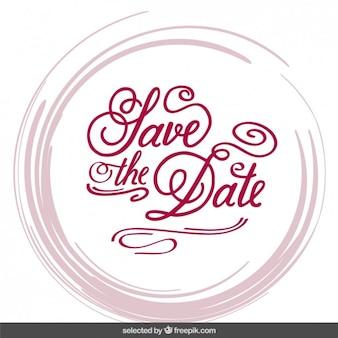Uitnodiging van het huwelijk in belettering stijl