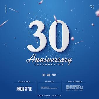 Uitnodiging voor 30-jarig jubileumfeest met datum