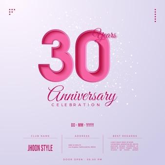 Uitnodiging voor 30-jarig jubileumfeest
