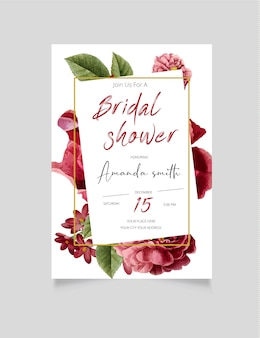 Uitnodiging voor bruids douche