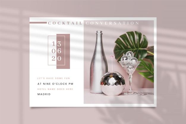 Uitnodiging voor feest met foto concept