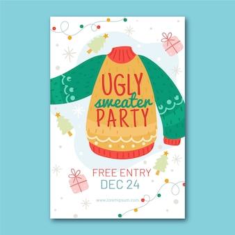 Uitnodiging voor feest van lelijke trui