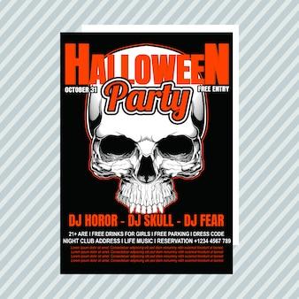 Uitnodiging voor halloween-feest flyer