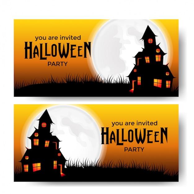 Uitnodiging voor halloween-feest uitnodiging