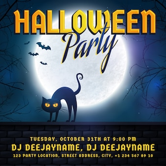 Uitnodiging voor halloween-feest.