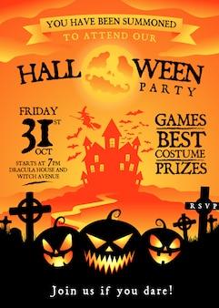 Uitnodiging voor halloween-feest