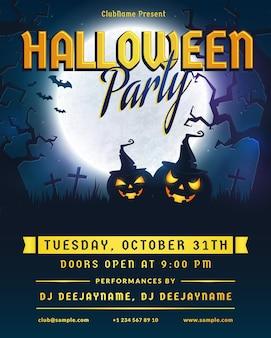 Uitnodiging voor halloween-feestje