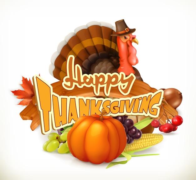Uitnodiging voor happy thanksgiving. wenskaart.