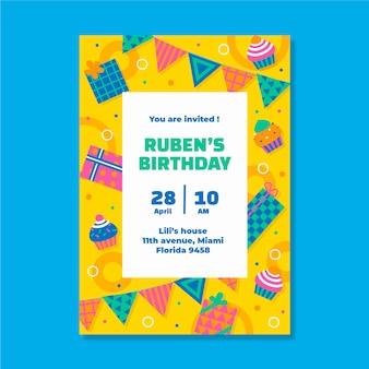 Uitnodiging voor verjaardagsfeestje voor kinderen