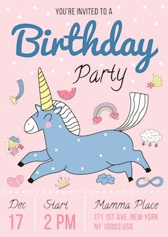 Uitnodiging voor verjaardagsfeestje