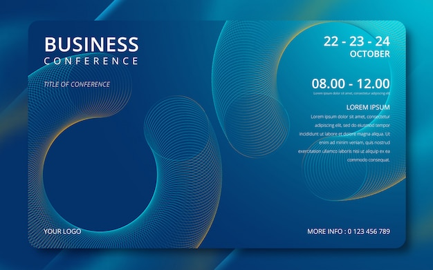 Uitnodiging voor zakelijke conferentie eenvoudige sjabloon.