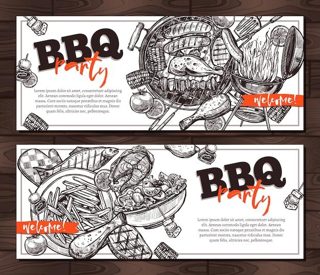 Uitnodigingen barbecue partij kaartsjablonen