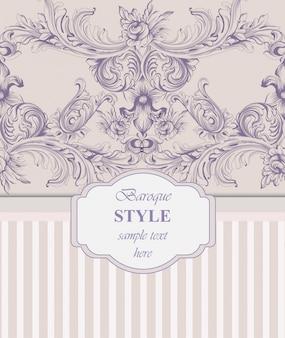 Uitnodigingskaart. koninklijk victorian patroonornament