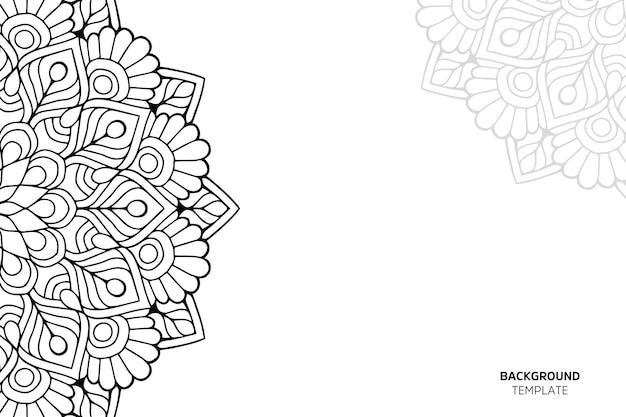 Uitnodigingskaart met bloemenornament backgraund