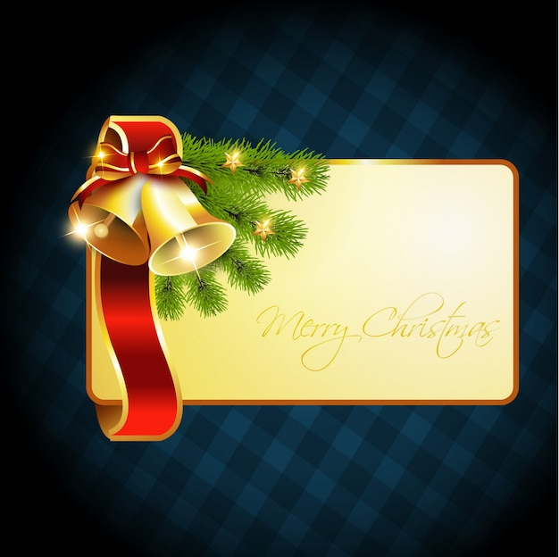 Uitnodigingskaart temaplte kerstklokken