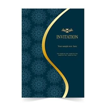 Uitnodigingskaart, trouwkaart met sier