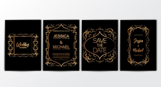Uitnodigingskaarten met luxe concept