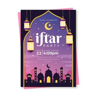 Uitnodigingssjabloon voor iftar-dag