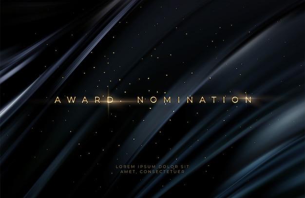 Uitreiking van de nominatieceremonie luxe zwart golvend