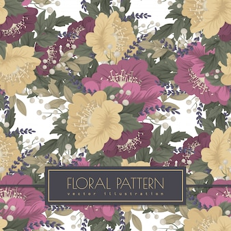 Uitstekend bloem naadloos patroon als achtergrond
