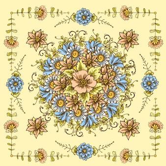 Uitstekend bloemenpatroon
