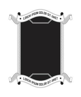 Uitstekend frame met banner