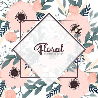 Uitstekend frame met bloemen