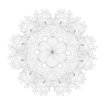 Uitstekend mandalapatroonontwerp in zwart-wit