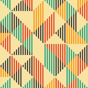Uitstekend manier abstract geometrisch naadloos patroon.