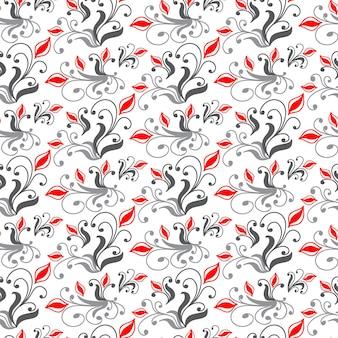 Uitstekend naadloos patroon met bloemenelemententextuur voor wallp