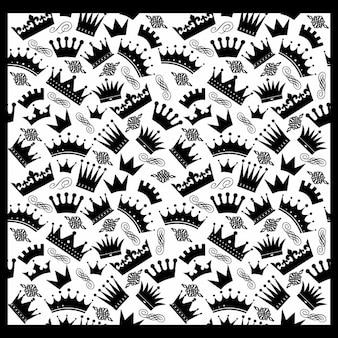 Uitstekend naadloos patroon van kronen
