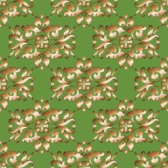 Uitstekend, oosters naadloos patroon als achtergrond.
