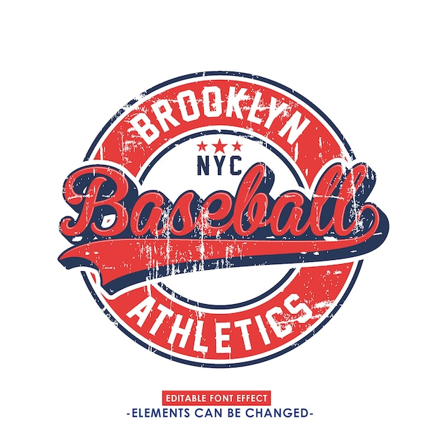 Uitstekend sportief lettertype-effect en badge
