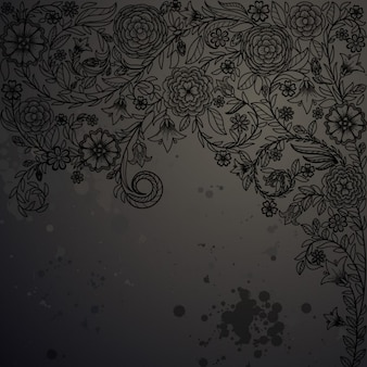 Uitstekende achtergrond met doodle bloemen