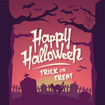 Uitstekende achtergrond van halloween